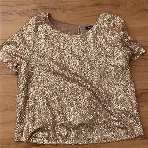 Gold sequin shirt